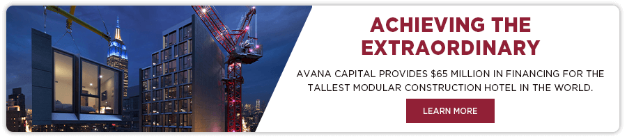 AVANA Capital provides funding for tallest modular hotel in world
