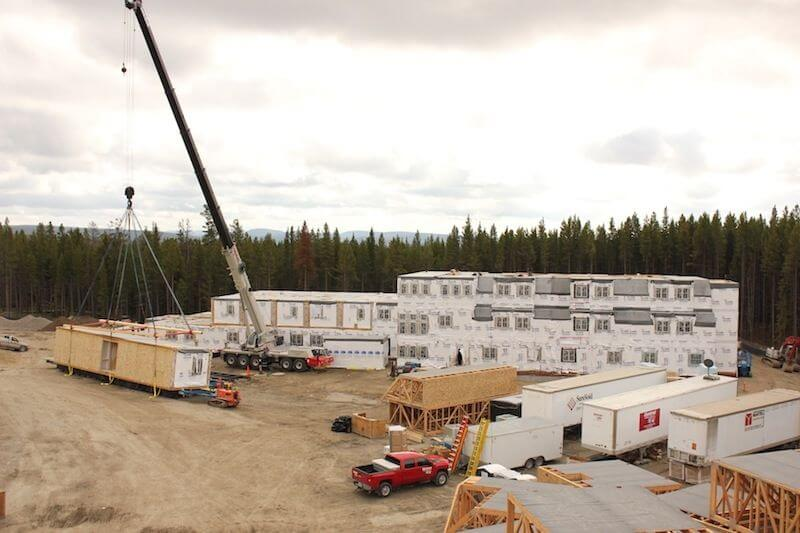 The Canyons Lodge Cabins in Yellowstone National Park modular construction